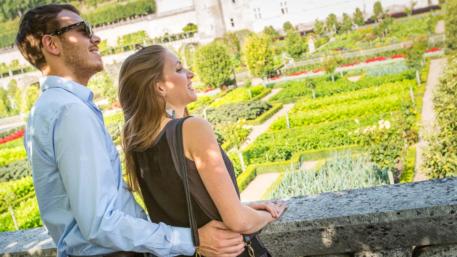 Les jardins de Villandry - Idée de vacances en amoureux en Touraine. Idéal pour un séjour romantique à deux en France, week-end en amoureux à moins de 2h de Paris.