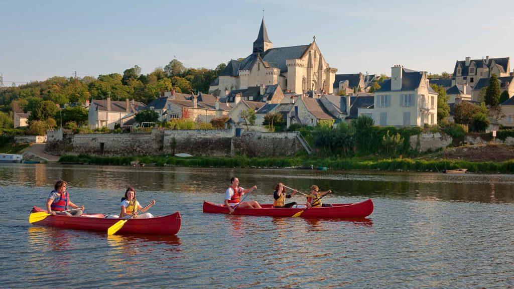 Canoë sur la Loire, devant Candes-Saint-Martin