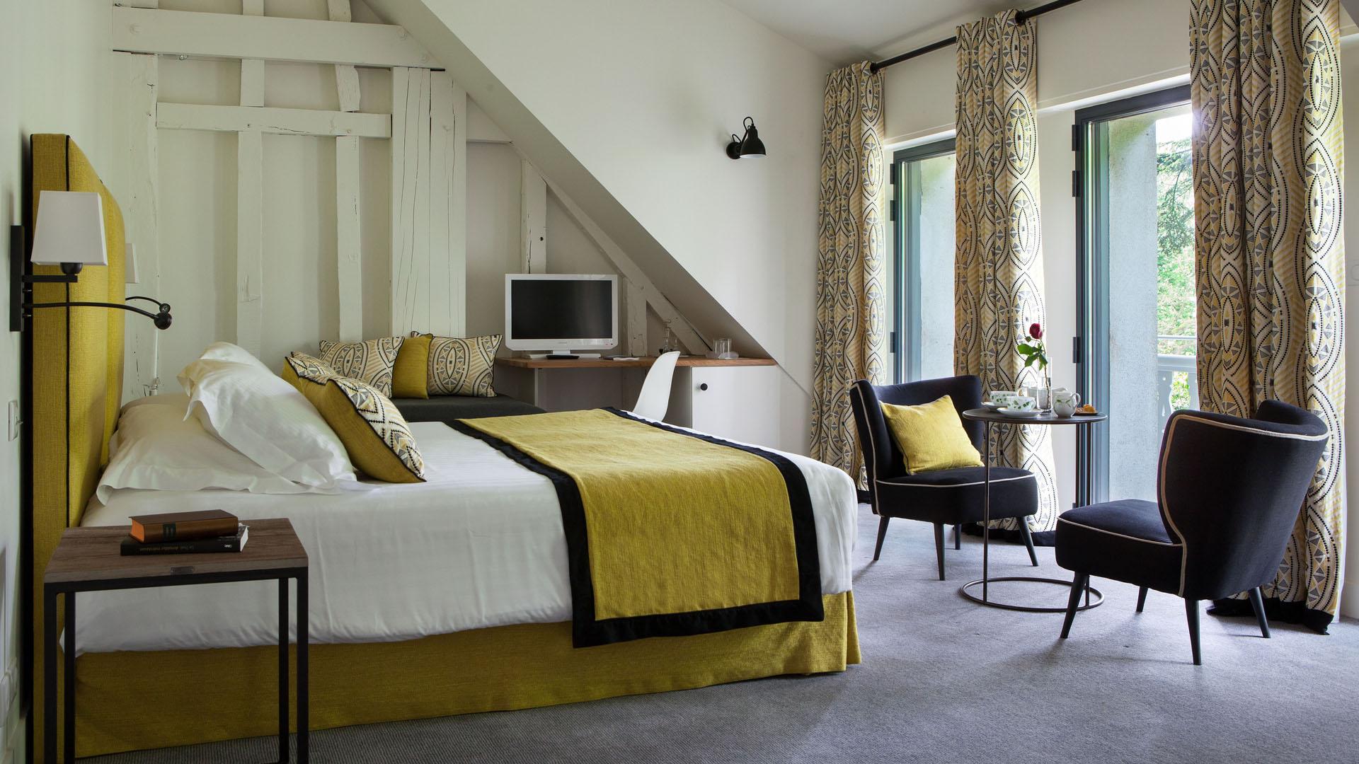 Week-end en amoureux - Chambre de l'hôtel de la Tortinière. France