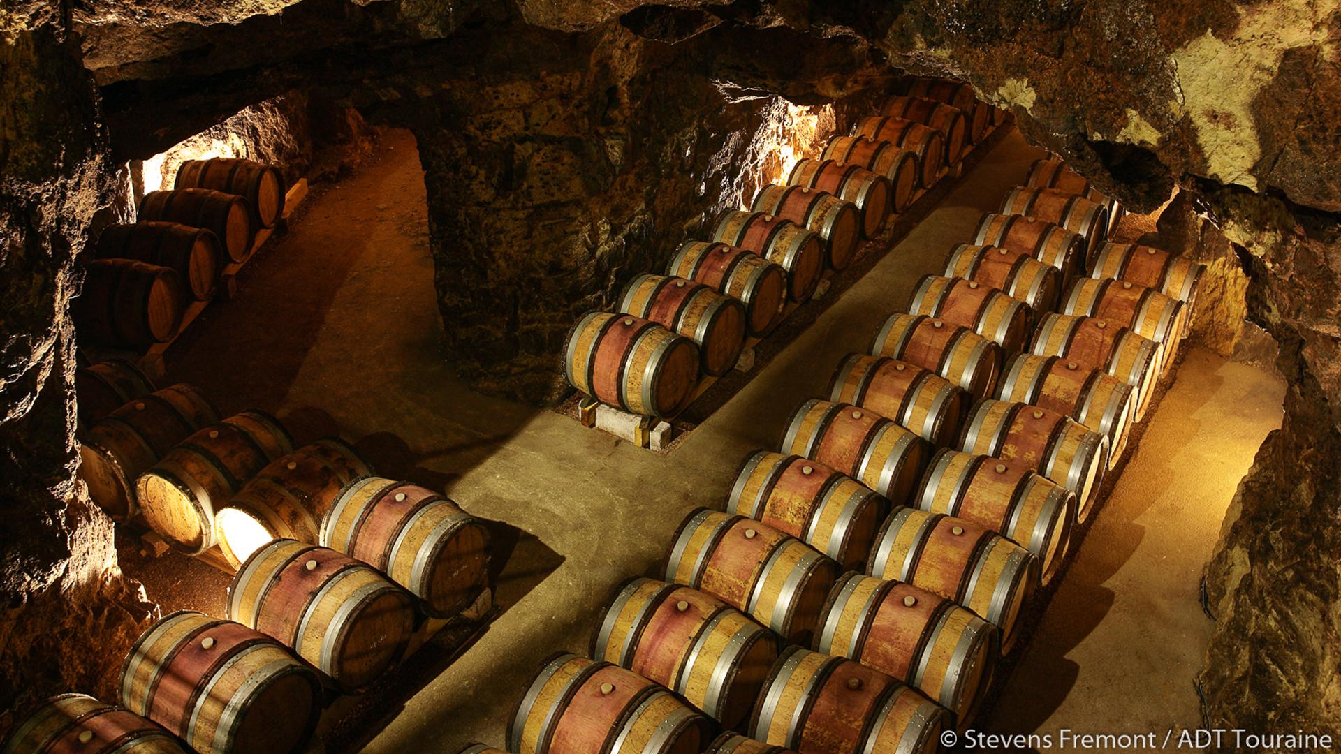 Les caves troglodytes de la route des vins de Touraine