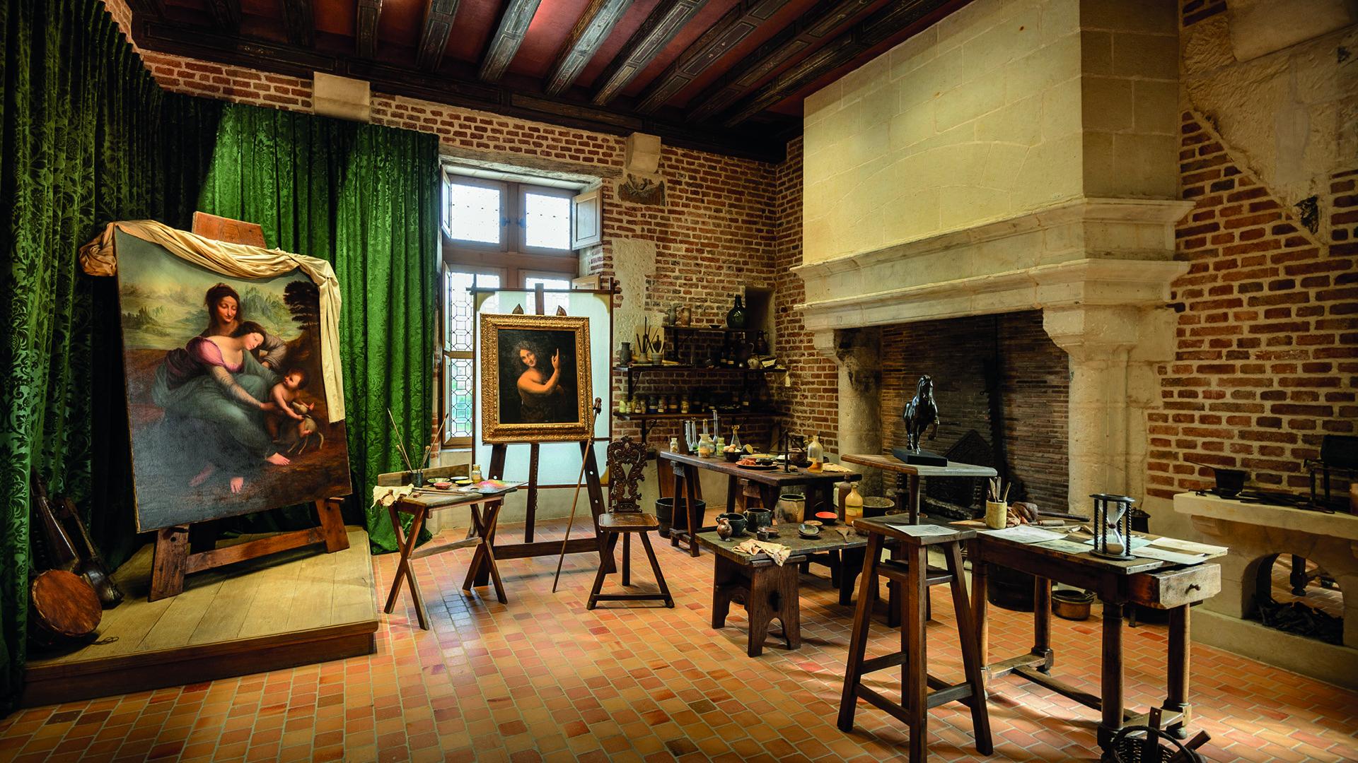 Atelier de Léonard de Vinci, au Clos Lucé