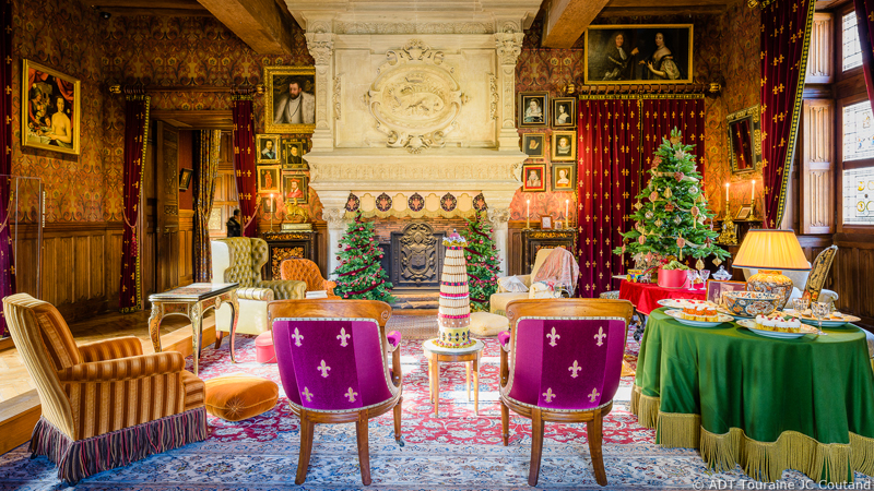 Les décorations de Noël au pays des châteaux - Azay-le-Rideau
