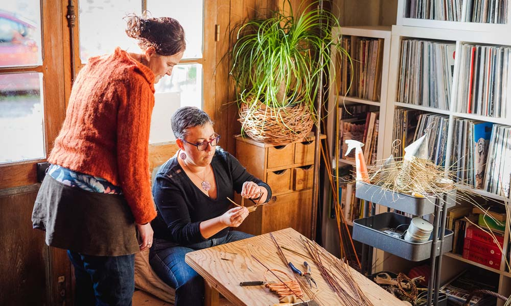 Atelier de vannerie - Plume et brin d'osier