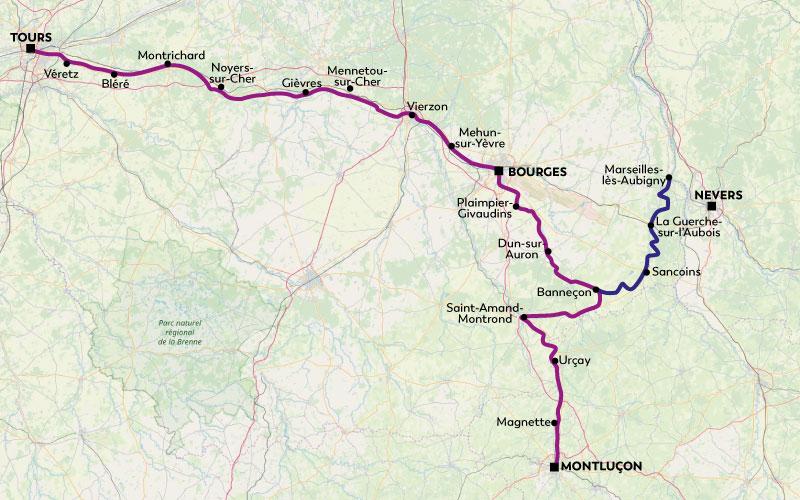 Cœur de France à vélo - Val de Cher et Canal de Berry