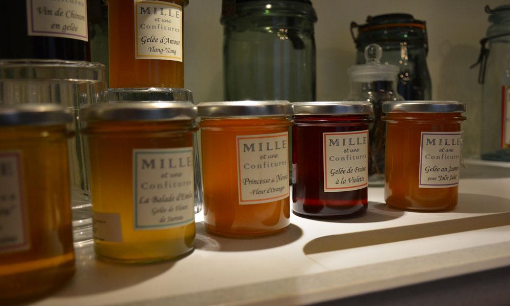 Mille et une confitures. Produits locaux à retrouver sur les marchés d'Indre et Loire.