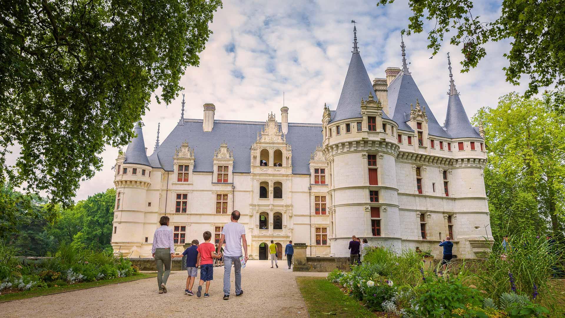 L'Indre à vélo - Château d'Azay-le-Rideau