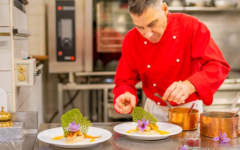 Christophe Duguin, Maître Restaurateur - Restaurant Au Chapeau Rouge, à Chinon.
