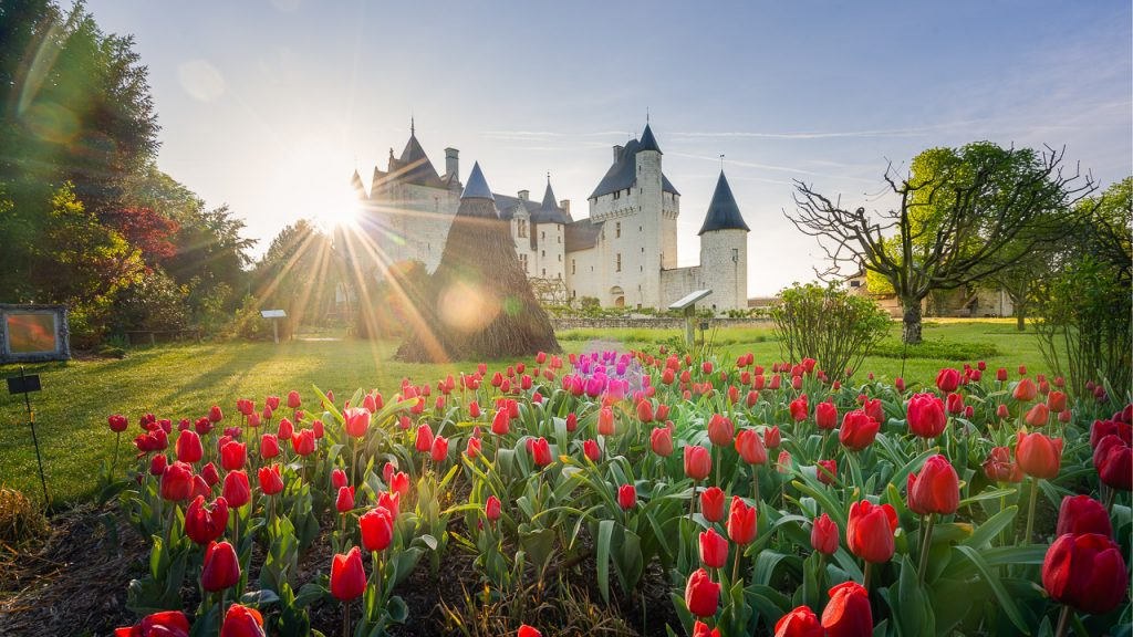 Les jardins de conte de fées du château du Rivau, qui apporte de l'eau au moulin de l'expression Jardin de la France, lorsque sont évoqués les parcs et jardins de Touraine.