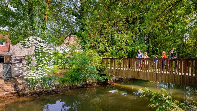Canal de Beaulieu-lès-Loches, creusé par les moines de l'Abbaye de Beaulieu. Il passe notamment près du jardin des viantaises, et des prairies du roy.