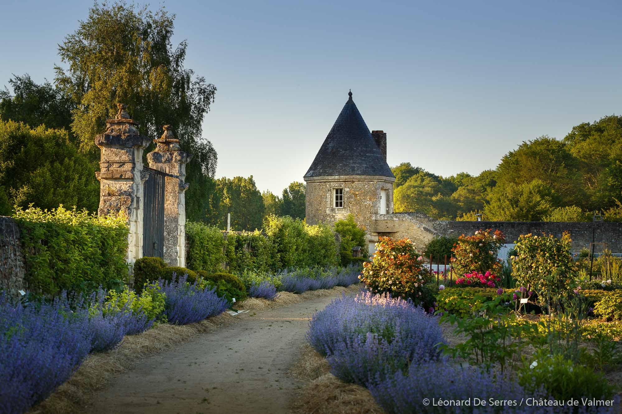 Château de Valmer. Il y a le ciel, le soleil et la pierre.