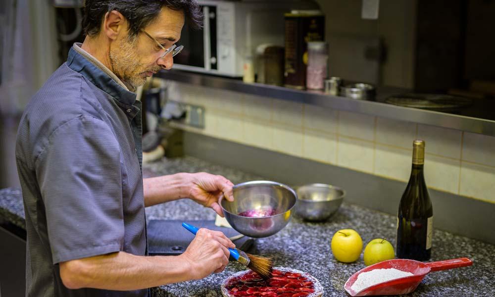 Patrice Ayrole, créateur de la recette de la tarte du vigneron