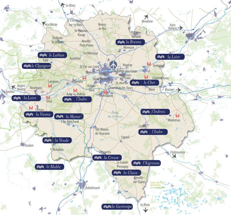 Week-end pêche : carte des rivières et des plans d'eau en Indre-et-Loire (37) pour savoir où pêcher. En France, on compte 1,5 million de pêcheurs.