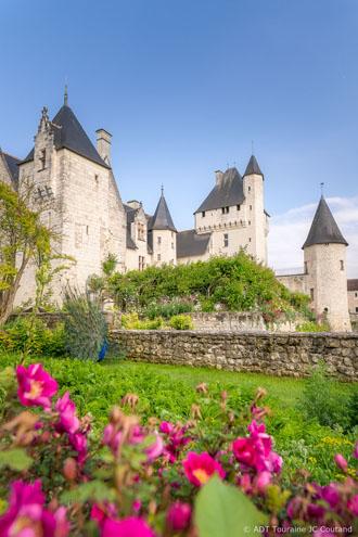 La couleur des roses au Château du Rivau - Echappée roses en Val de Loire.
