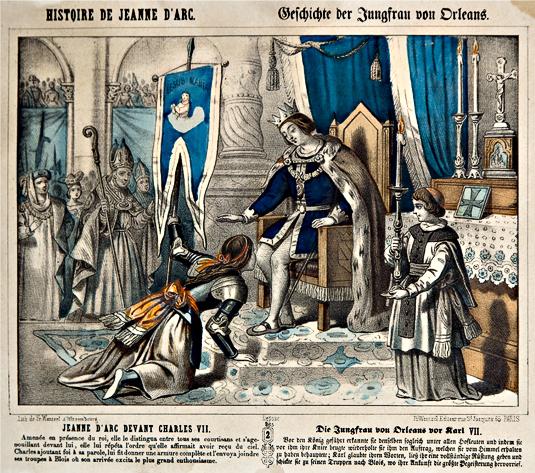 Jeanne d'Arc et Charles VII à Chinon.