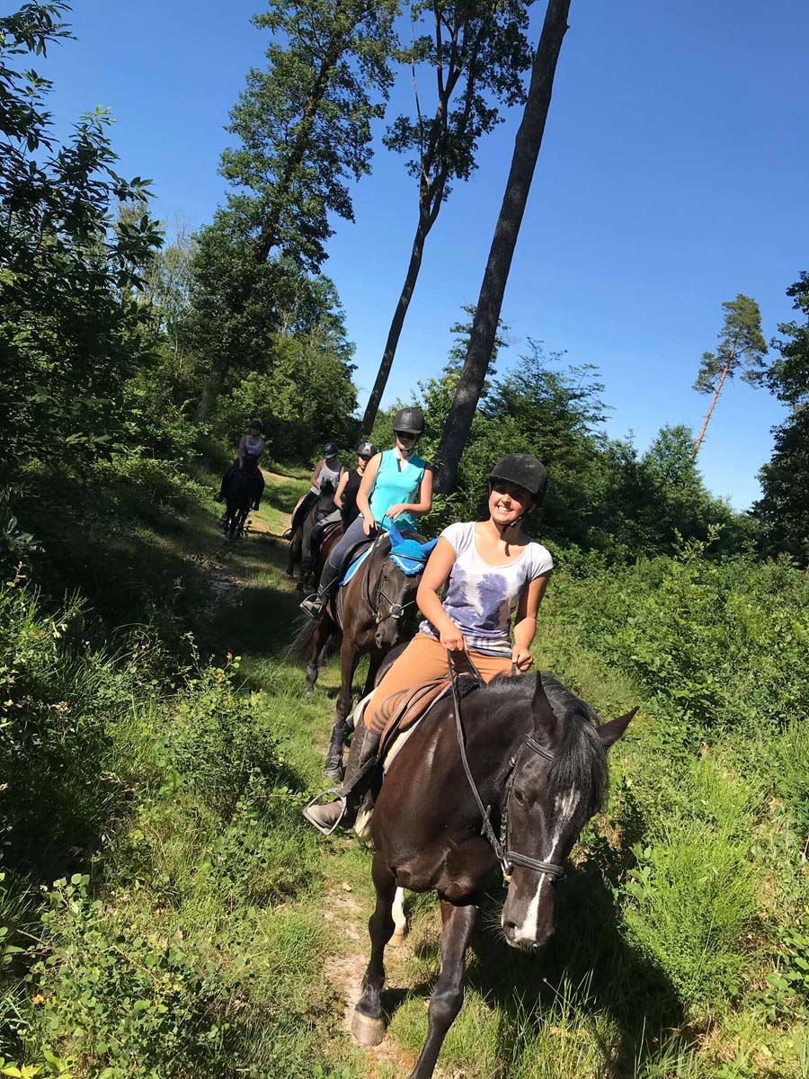 Balade à cheval dans la forêt de Loches avec l'écurie Aude Favreau, à Genillé.