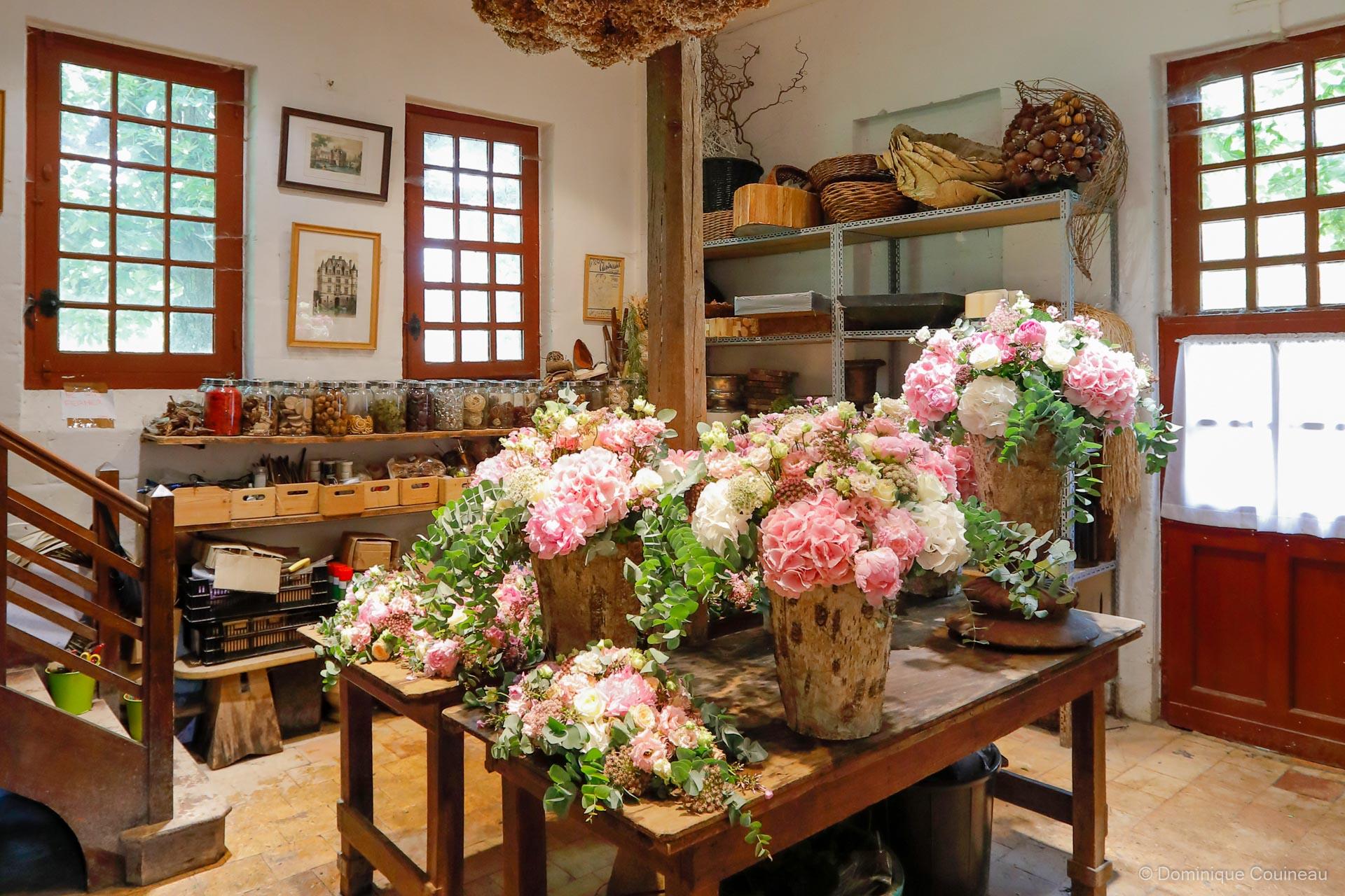 L'atelier floral du château de Chenonceau
