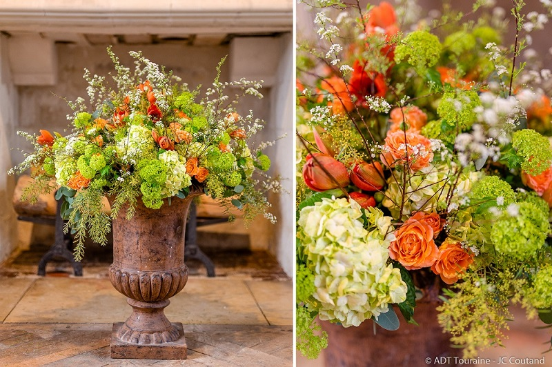 Bouquet de fleurs du château de Chenonceau - Décoration florale