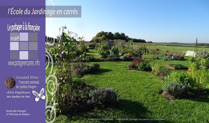 Le Potager en carrés à la française - École du Jardinage en Carrés à ...