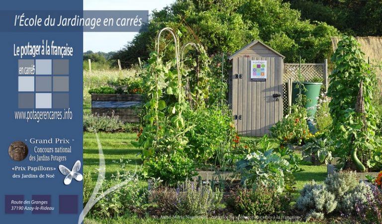 Le Potager en carrés à la française – École du Jardinage en Carrés-1