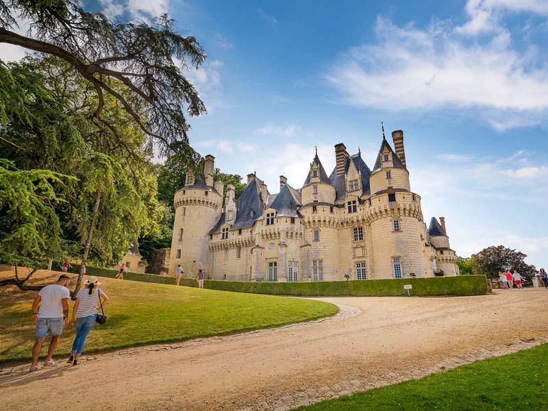 Au milieu de l'itinéraire : le château d'Ussé